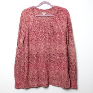 Lucky Brand | Braided Ombre Sweater XL